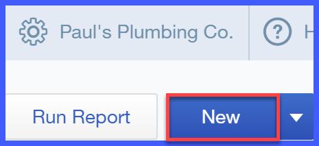 QuickBooks Online New Report Button