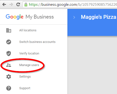 manage users GMB