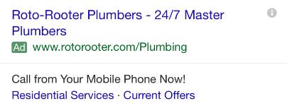 plumbing ad mobile