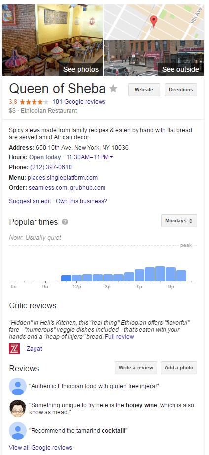 sheba google sıralaması kraliçesi