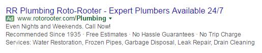 roto plumbing ad non-mobile