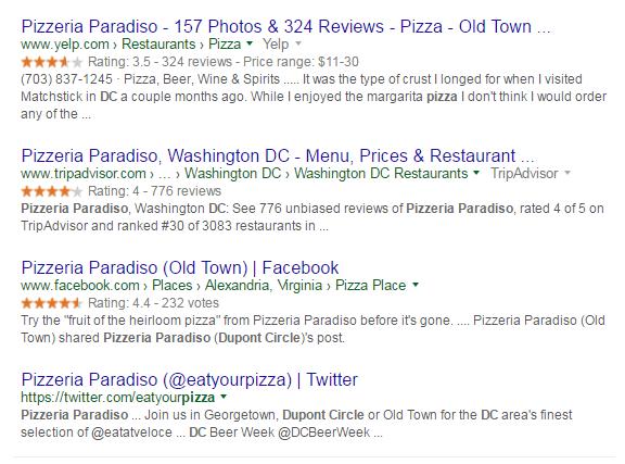 social media google search