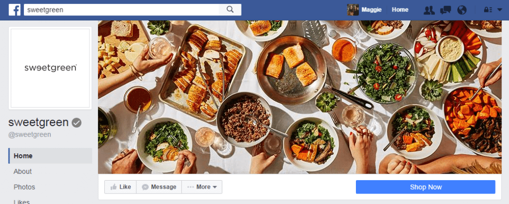 sweetgreen facebook cover photo