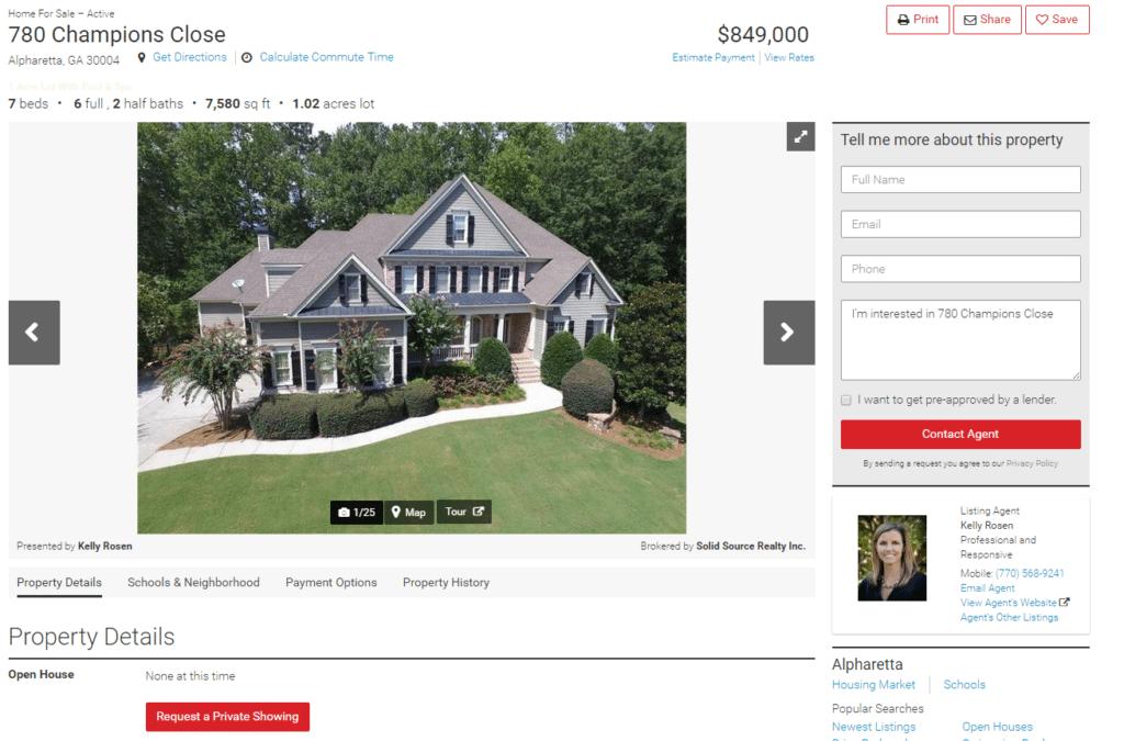 780 Champions Close Alpharetta GA 30004 Home For Sale and Real Estate Listing realtor.com®