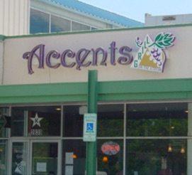 metal storefront sign