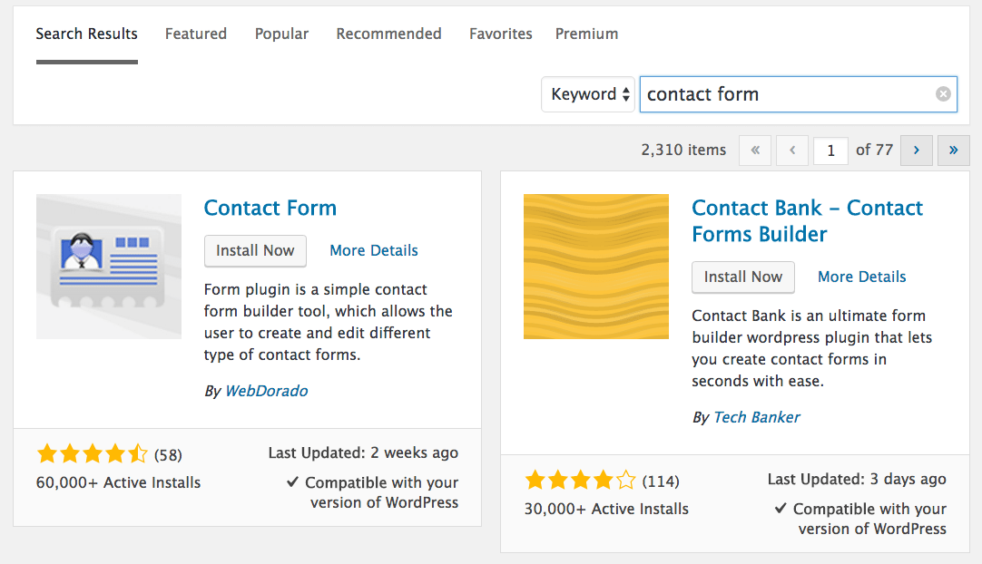 Bluehost Add Contact Form