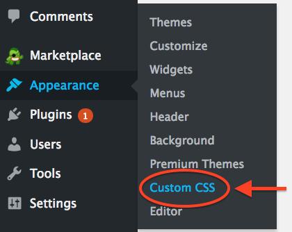 Bluehost Custom CSS