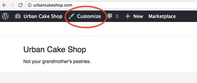 Bluehost Customize Theme