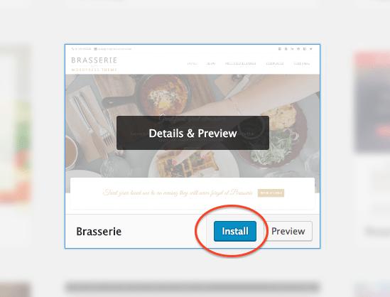 How to Make a WordPress Website: Install Theme