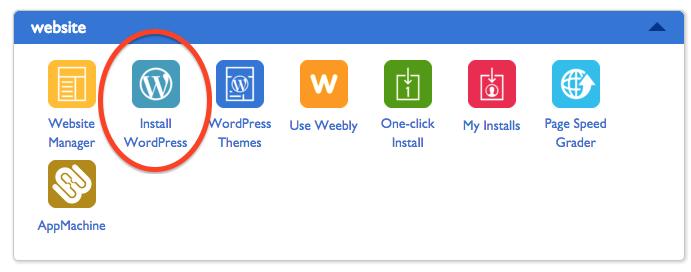 bluehost-install-wordpress-button