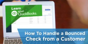 handle bounced checks in quickbooks