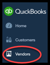 select vendors quickbooks online