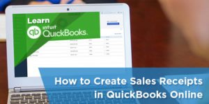 How to Create & Send Sales Receipts in QuickBooks Online