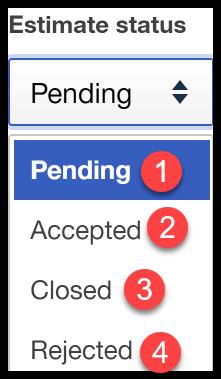 Estimate Status Window QuickBooks Online