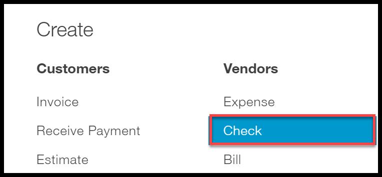 quickbooks online vendor menu