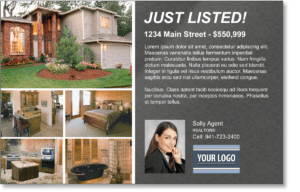just listed real estate postcard from prospectsplus