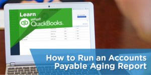 How to run an accounts payable aging report with sample in QuickBooks Online