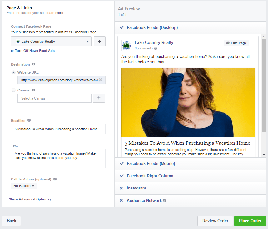 Add blogs to facebook