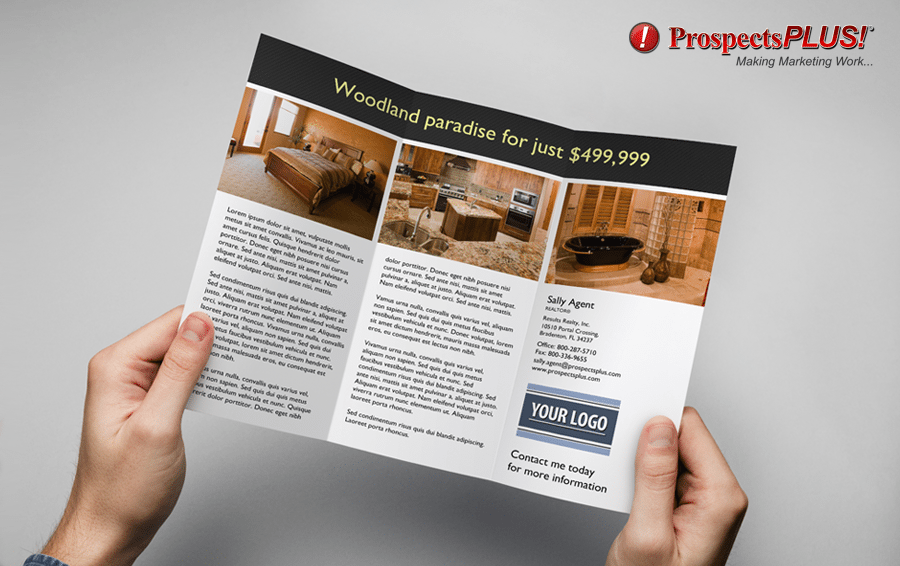 Real Estate listing brochure trifold by ProspectsPLUS