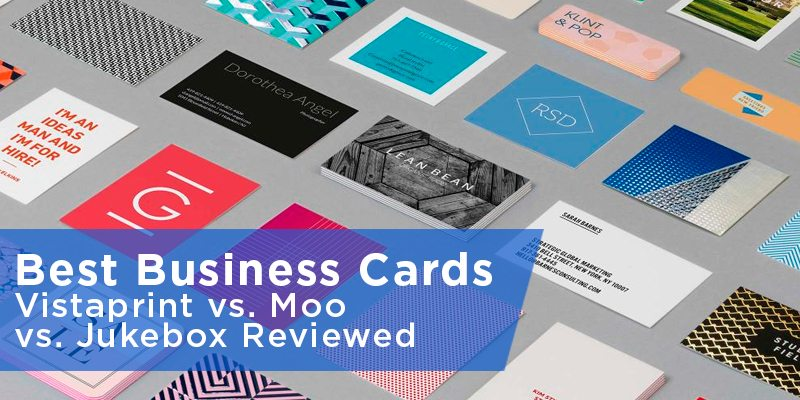 Best Business Cards Vistaprint vs Moo vs Jukebox Reviewed