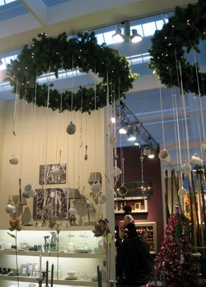 ceiling wreath chandeliers christmas displays