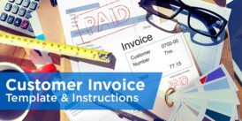 customer invoice template and instructions