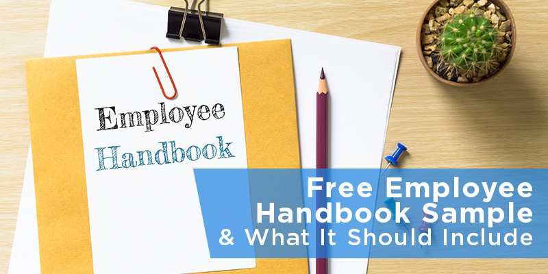 Free employee handbook sample what it should include for Free employee handbook template for small business