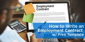 How to Write an Employment Contract, with Free Template