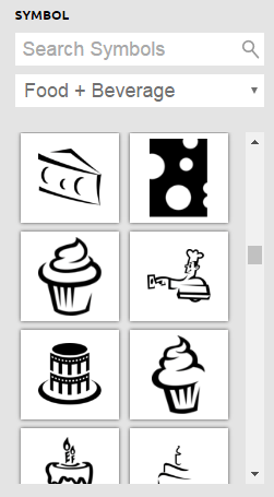 Icon options from Logo Garden
