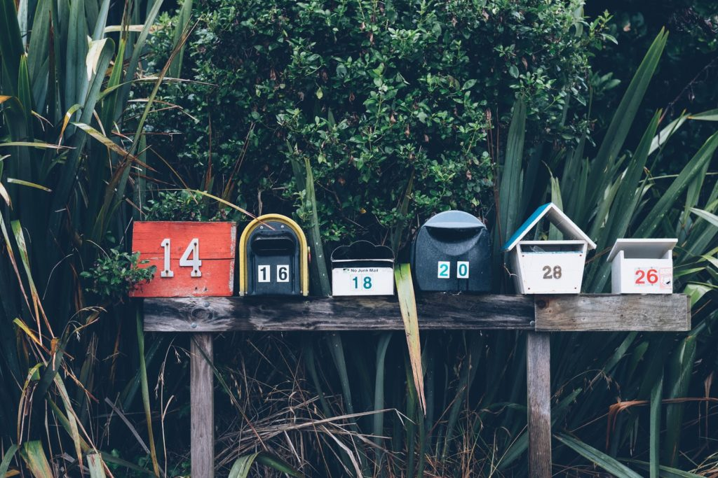 mailboxes real estate farming