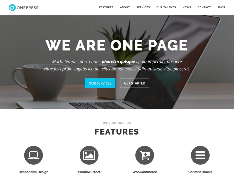 Best Free WordPress Themes: OnePress