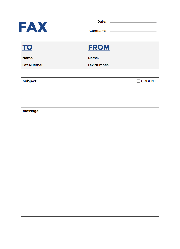 Free Fax Cover Sheet Templates PDF DOCX and Google Docs – Fax Cover Sheet Free Template
