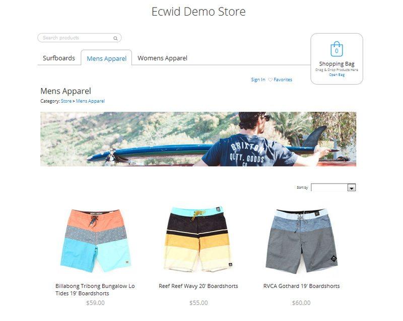 Wordpress ecommerce plugin - Ecwid