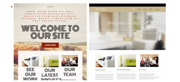 Examples of Weebly Free Templates