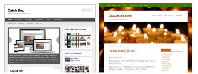 Examples of Free WordPress Templates