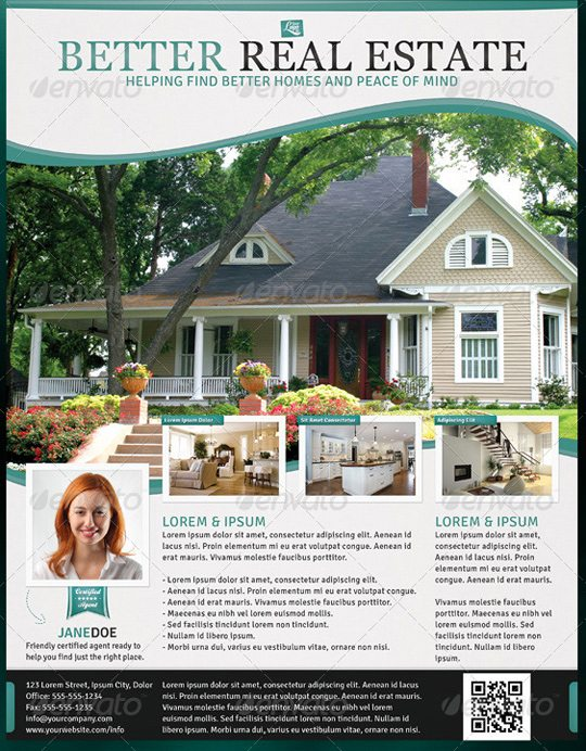 Flyer templates 25 options for small businesses for Real estate feature sheet template free