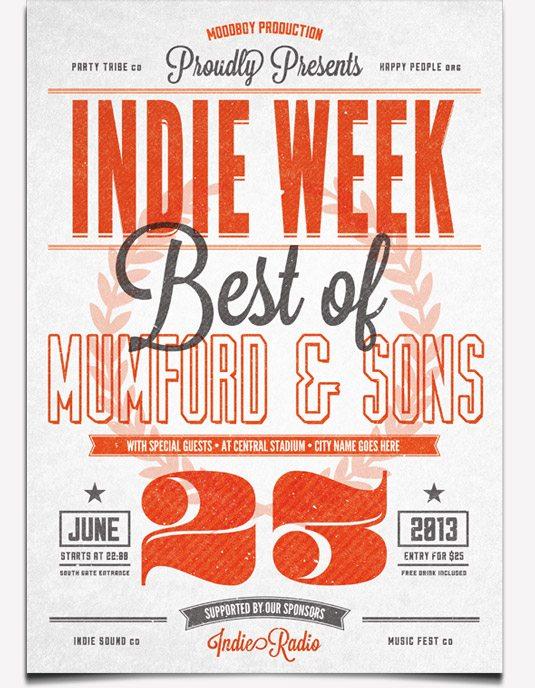 creative blog indie week flyer