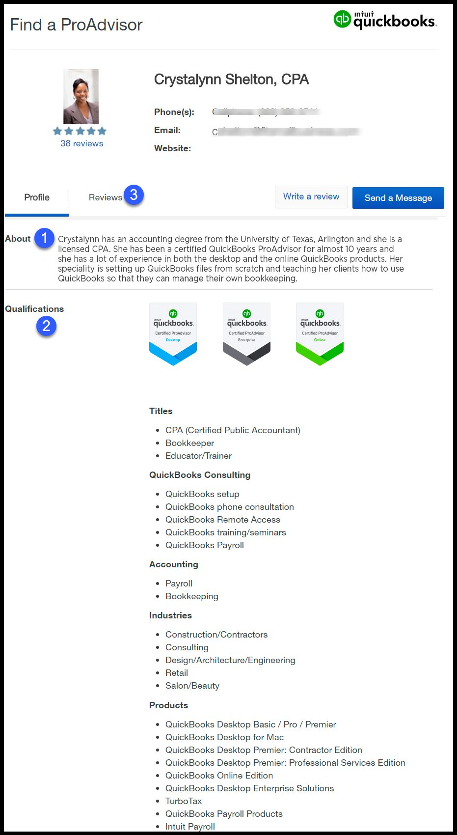 How to find a QuickBooks ProAdvisor Profile