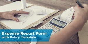 Expense Report Form with Policy Template