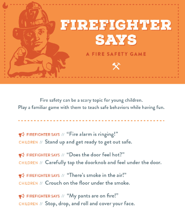 firefighter says safety game
