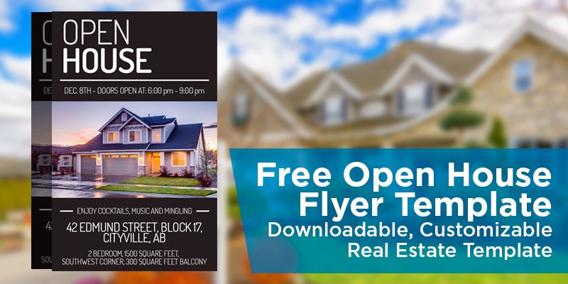 Free open house flyer template downloadable for Open house brochure template
