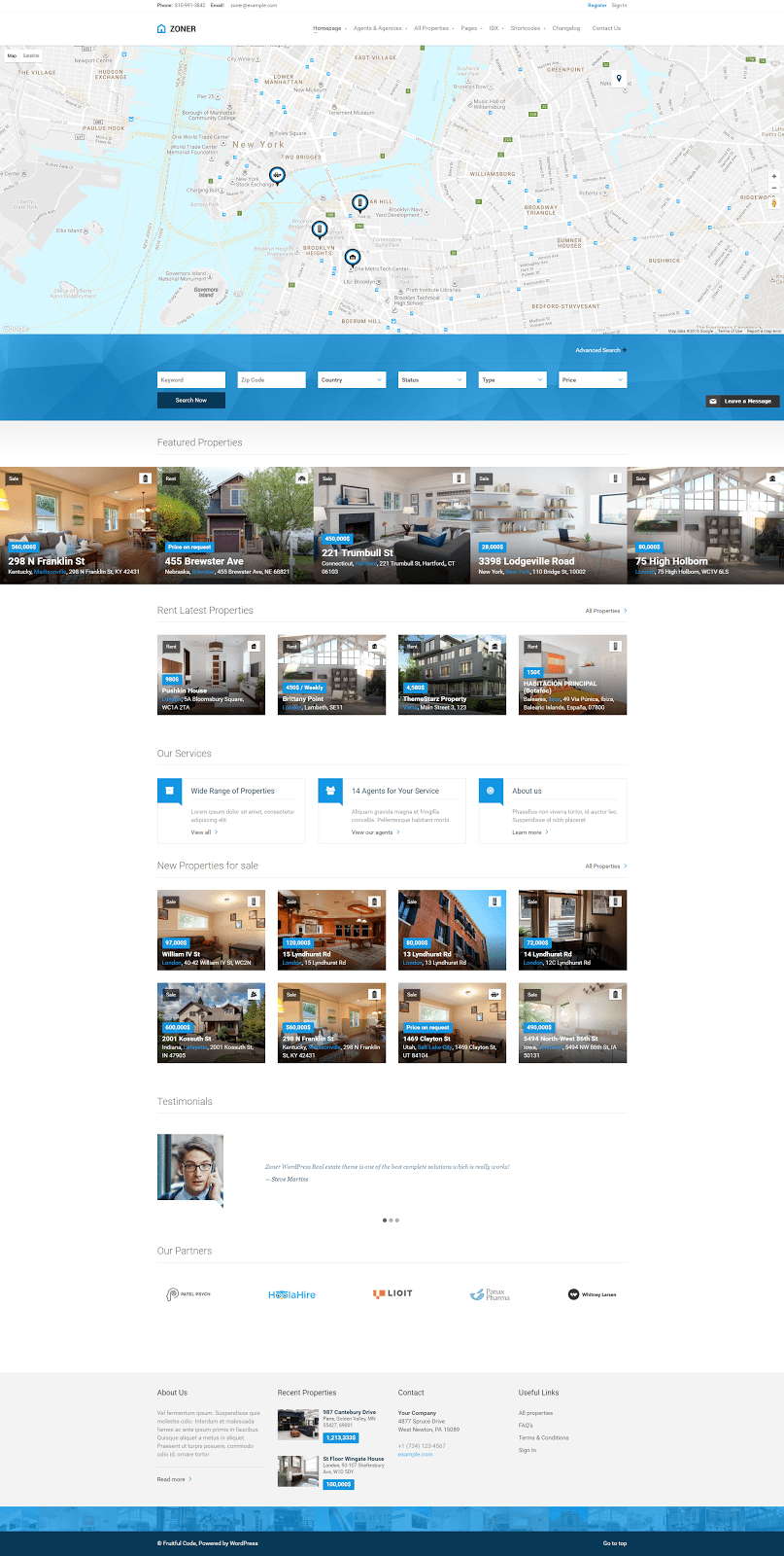 Real Estate Website Templates Examples How To Choose - Website front page template