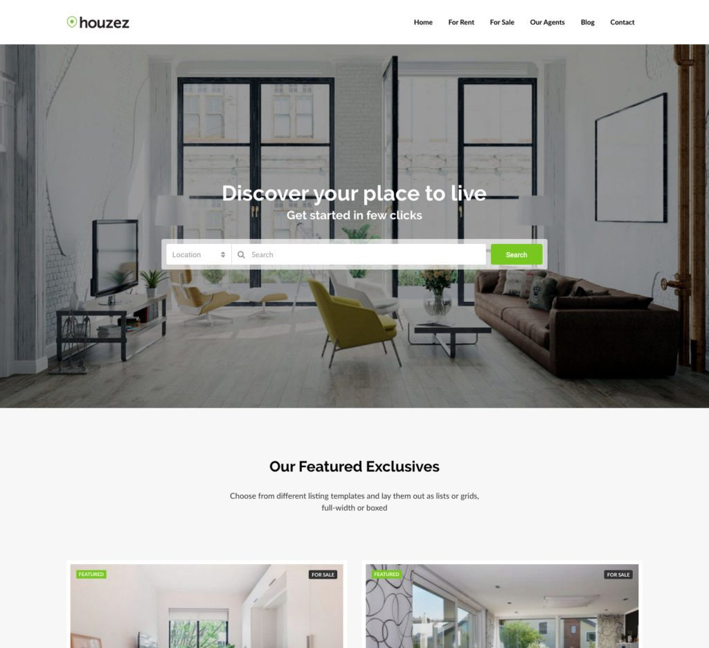 Houzez Is One Of The Most Versatile And Powerful Real Estate Website  Templates Available For WordPress Today. It Boasts Professional And  Gorgeous Layouts ...