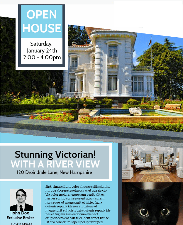 Free Open House Flyer Template Downloadable Customizable Real – Open House Flyers