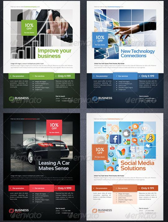 Creative Flyer Templates To Showcase Your Small Business - Professional flyer templates