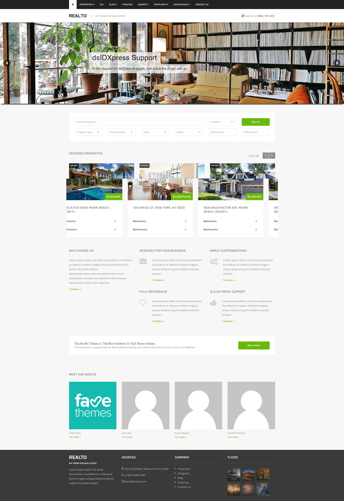 real estate agent website templates