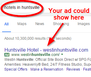google-advertising-hunstville-hotels