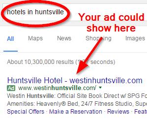 google-advertising-hunstville-hotels