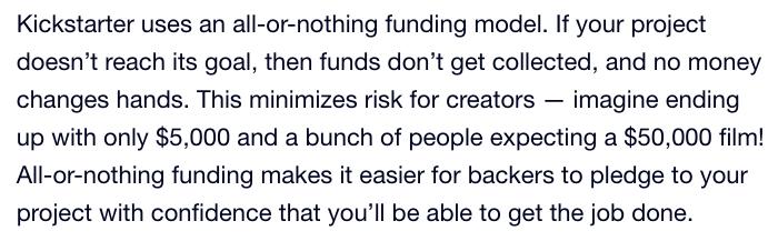 Kickstarter Funding