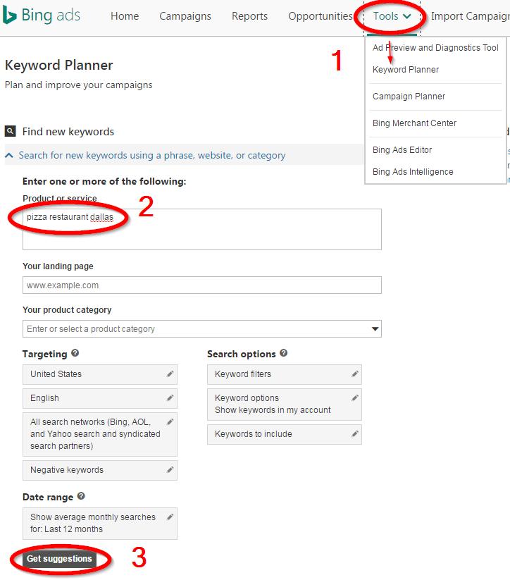 Bing Ads Keyword Research